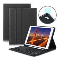 "For iPad 6th/5th Gen 2018 2017 9.7"" Bluetooth Keyboard with Pencil Holder Case"