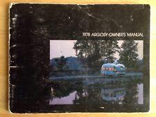 1978 ARGOSY TRAVEL CAMPING TRAILER OWNER'S MANUAL, ORIGINAL, GENUINE, VINTAGE