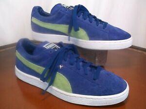 Puma Suede Lace Up Casual Violet and Green Sneakers Men's Sz. 9.5 M