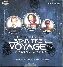 Star Trek Quotable Voyager Factory Sealed Hobby Box 36 Packs