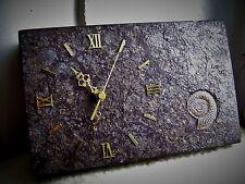 Tischuhr Batterie Ammonit Schiefer Unikat Urzeit und Uhrzeit  Eigenanfertigung