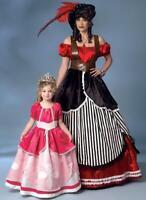Butterick  B6113 Floor length Ball gown, Layered dress costume Pattern Children
