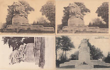 Lot 4 cartes postales ancienne CAMBRAI monument victoire