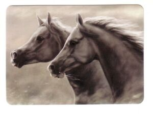 Beautiful  Arabian Horses -- Modern Wide Linen Swap Playing Card