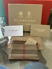 USED $200 Burberry Credit Cardholder 100% Authentic Leather Checkered Pattern