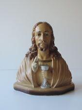 ALTE JESUS FIGUR SKULPTUR BÜSTE GIPS  STATUART  DEPOSE 295 B SIGNIERT