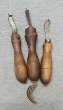 3 antike Brandsohlenhobel Schusterwerkzeug Schuhmacher Schuster geschmiedet ALT
