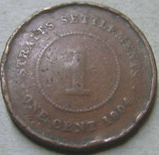 Straits Settlements 1 cent 1904 coin