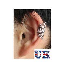 Spider Web Ear Cuff Clip On Punk Rock Fashion Silver Girls Men Women Free P&P