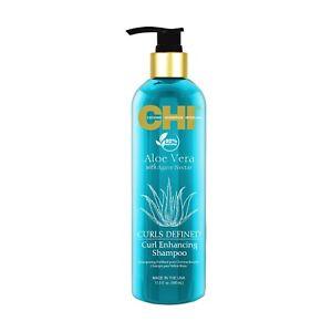 CHI Aloe Vera Curl Enhancing Shampoo 11.5 oz / 340 ml Agave Nectar defines curls