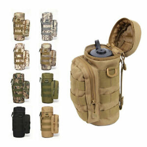Military Water Bottle Pouch Holder Tactical Hiking Kettle Gear Molle Pack Bag US