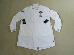 Nike Authentic NFL SF 49ERS On Field SB54 Players JACKET Men L New Sweet CLEAN!
