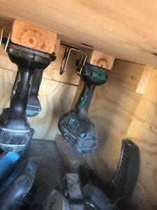 3 X Makita 18V Li-Ion Cordless Tool Holder Mount - DHP481Z DTD171Z DGA504Z