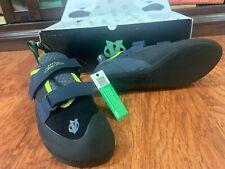 Evolv Defy Rock Climbing Shoe Men's Black/Sulphur Size 7.5 Vegan