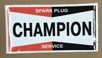 "CHAMPION SPARK PLUG DECAL APPROXIMATELY 12"" WIDE * Gas & Oil / GAS PUMP STICKERS"