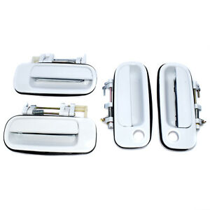 Set of 4 For Toyota Camry 92-96 New Outside Door Handle White 69220-33020