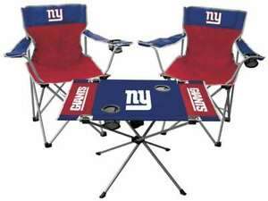 New York Giants  3 Piece Tailgate Kit - 2 Chairs - 1 Table