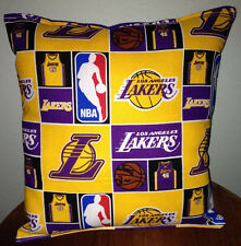 Lakers Pillow Los Angeles Lakers Pillow NBA LA Lakers Handmade in USA