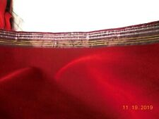 "BTHY Vintage Red Velvet Fabric 46""W Quality Gorgeous   #0127"