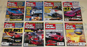 """""""EIGHT"""" VINTAGE 1984/85/86/87/88 """"HOT ROD DRAG RACING"""" MAGAZINES IN VG CONDITION"""