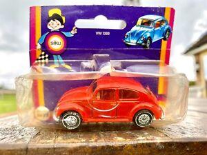 Siku VW 1300 No.1022. Unopened. Rare limited run in red. Volkswagen Beetle