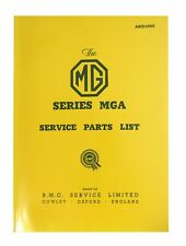 MG MGA Service Parts List 1500 1955 - 1999 AKD1055