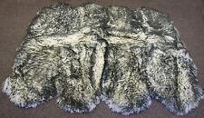 "Bowron Genuine Sheepskin Rug Octo 67"" X 80"", Twilight- Gray 8 pelt"