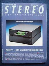 STEREO 2/92,FINE ARTS 907,NAKAMICHI TUNER 2,SONY ST S 770 ES,YAMAHA TX 950,AUDIO