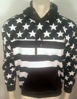 AMERICAN FLAG USA PATRIOTIC ARMY BLACK STARS STRIPES SWEATER PULLOVER HOODIE