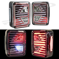 Xtreme Brake+Reverse+Turn Signal+LED RED Taillight For 07-18 Jeep JK Wrangler