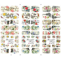 3Sheets Nail Art Water Transfer Decals Stickers Eiffel Tower Design Manicure DIY
