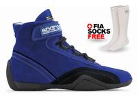 FIA SPARCO RACE PLUS shoes, size 47 Blue Sport Racewear Rally + FREE FIA SOCKS
