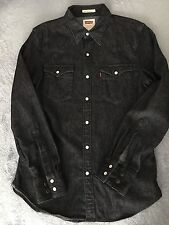 Levi's Men's Button Down Shirt Denim Blue Long Sleeve Size Small
