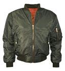 New Womens Ladies MA1 Bomber Padded Jacket Vintage Zip Up Biker XS - Plus Size