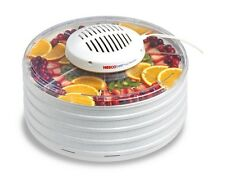 Food Dehydrator 7-Tray Fan Flow Radial Air Drying 400 W White Clear Cover Home