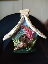 "New listing Heather Goldmine Bird House"" Candle Tea Light House 2003 Blue Sky Clayworks"
