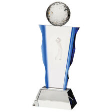 Celestial Golf Crystal Trophy Award 230mm FREE Engraving