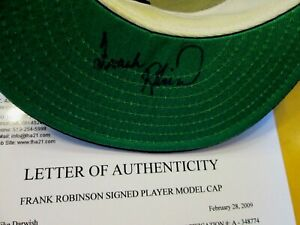 FRANK ROBINSON Signed Orioles Baseball Cap -First Hand Authenticated