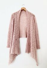 Anthropologie Laurie B Open Cardigan Cocoon Sweater Pink Sz S Wool Mohair Blend