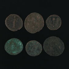 Ancient Coins Roman Artifacts Figural Mixed Lot of 6 B6235