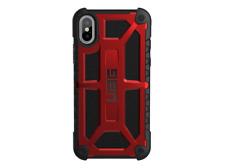Carcasa UAG Monarch para Apple Iphone X, funda cuero y aleación metal.Color Rojo