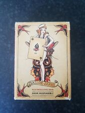 More details for sailor jerry playing cards. sailor jerry rum, used once excellent condition