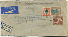 SUID-AFRIKA SOUTH AFRICA, REGISTERED AIR MAIL, 1951, 3 MIXED STAMPS            m