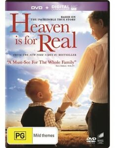 Heaven Is For Real DVD Near Death Experience NDE Themed Movie 2014 TRUE STORY