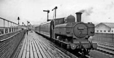 PHOTO  GWR LOCO 8796 AT BRYNMAWR RAILWAY STATION WITH LOCAL TRAIN FROM NEWPORT.