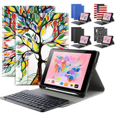Smart Cover w/ Bluetooth Keyboard For Apple iPad 9.7 2018 Stand Case 5 Colors