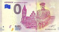 BILLET 0  EURO KOPENICK DER HAUPTMANN   ALLEMAGNE 2018 NUMERO 100