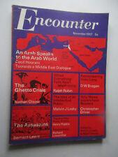 Encounter mag November 1967 vol 29 no. 5 Arab world / Ghetto crisis / Assassins