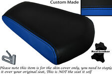 BLACK & ROYAL BLUE CUSTOM FITS SKYJET SJ 125-27 REAR LEATHER SEAT COVER ONLY