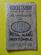 plaquette publicitaire Bricard Ancienne Maison Sterlin 1935 serrurerie serrures